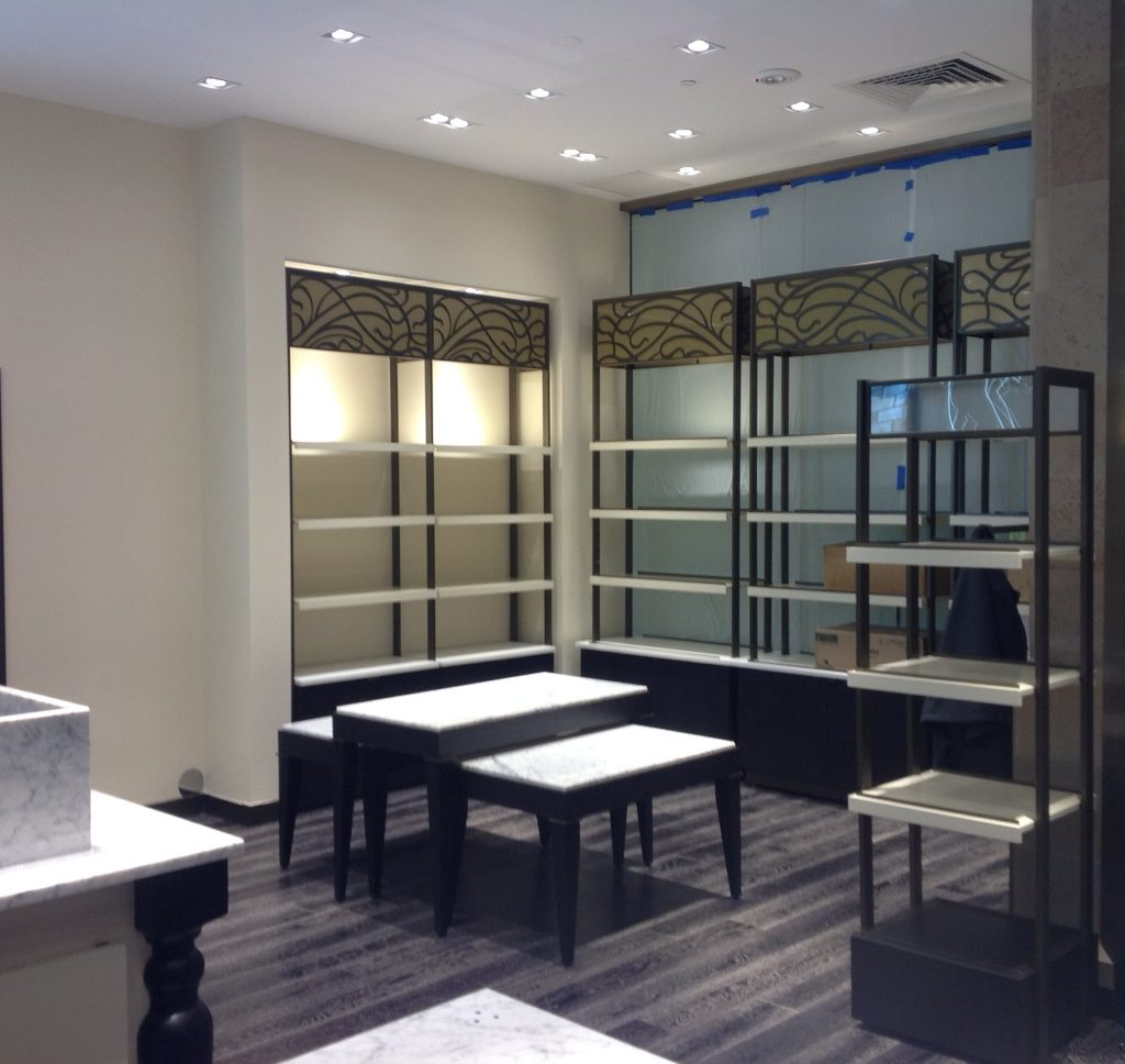 Godiva store built by Advanced Retail Construction, Inc.