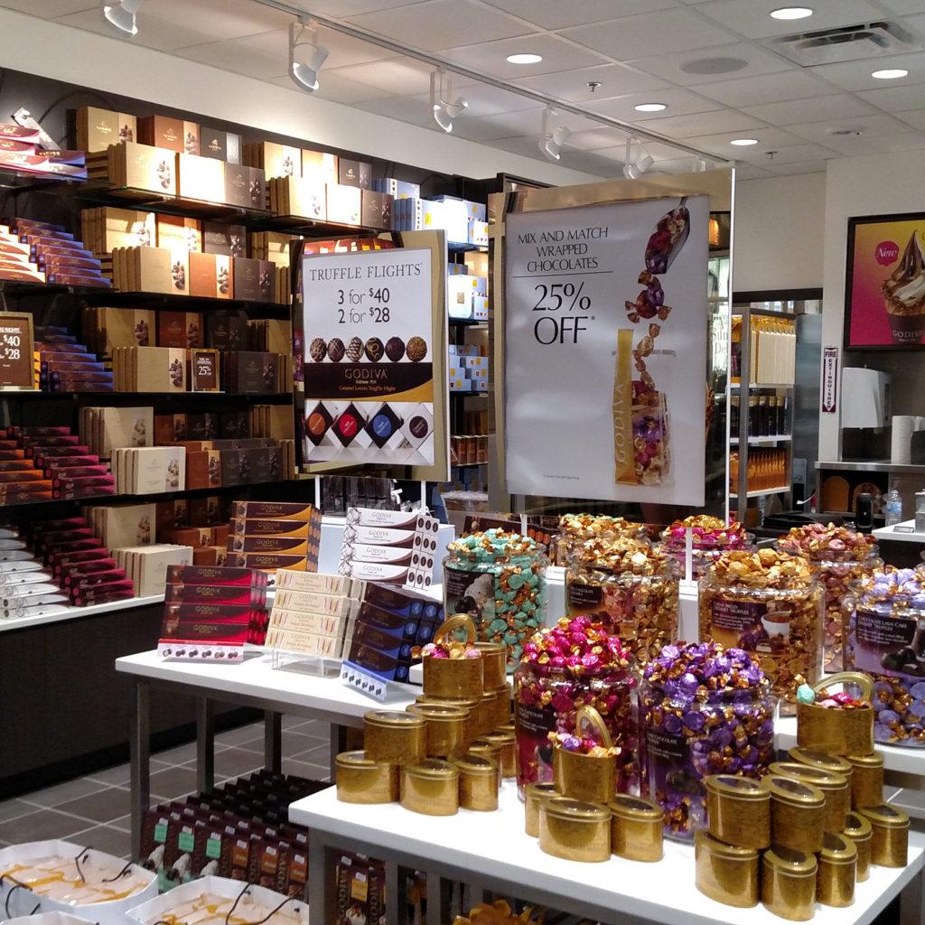 Godiva store located in Livermore, CA.