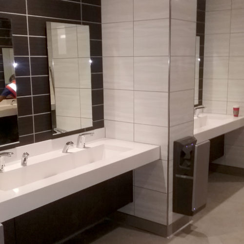 Great Mall restroom renovation in Milpitas