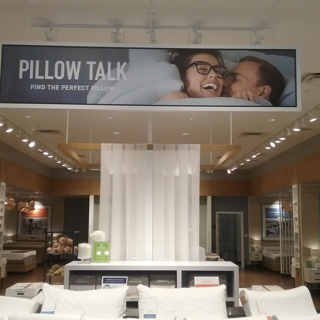 Tempur-Pedic store in King of Prussia Shopping Mall