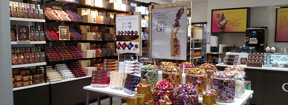 Interior Godiva Chocolate store